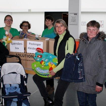 Viele tollen Spenden für die Pockinger Kleidertafel konnten gesammelt werden.